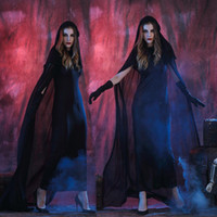 beauty robe - Demon witch robe Sorceress dress Ghost long gown Halloween cosplay costumes clothes including longuette cape gloves per set Hag stage outfit