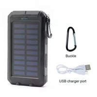 Wholesale HOT mah Solar Panel Charger with LED Portable Phone Charger Backup Power Pack Dual USB Port External