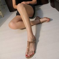 big herringbone - Out of Europe and the United States foreign trade single contracted herringbone T thong with low beach leisure female sandals big yards