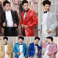 acting real - 2016 Real Picture Handmade Hot Sales Acting Suits Pants Customize Ceremony Sequins Men Suit Set Bling Bling Fashion Host wedding suits groom