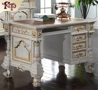 bedroom writing desks - Filiphs Palladio classic furniture baroque classic study room furniture solid wood frame writing desk European style office desk
