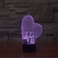 arc touch lamp - Valentine s Day Gift D LED Love Letter Light up Toys Arc Light Touch Switch Visual Stereo Lamp Creative Chramatic Lamp