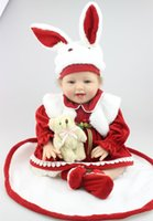 baby so real toys - 22Inch cm Silicone Boneca Baby Reborn Doll So Truly Real Alive Lifelike Vinyl Dolls Adora Kids Toy Cute Reborn Baby