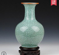 antique crackle - Jingdezhen ceramics kiln crackle crackle glaze antique vase new classic living room decoration decoration