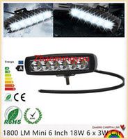 Wholesale 1800 LM Mini Inch W x W Car CREE LED Light Bar as Worklight Flood Light Spot Light for Boating Hunting Fishing