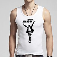 best men undershirts - The Best of Michael Jackson Men s Tank Tops Cotton O Neck MJ Male Vest Undershirts Tanks Custom Fit High Guarantee