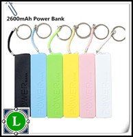 Wholesale 2600mAh Power bank mAh USB Power Bank Portable External Battery Charger for S G galaxy battery charger
