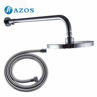 Wholesale Shower Arm with Rainfall Showerhead and Hose Extra Length Wall Mount Polished Chrome Bathroom Accessories HS005