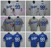 best jin - LA Dodgers Hyun Jin Ryu Jersey Flexbase Cool Base Los Angeles Dodgers Ryu Baseball Jerseys All Stitched Blue White Color Best Quality