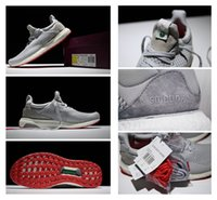 Wholesale Solebox x Consortium Ultra Boost Uncaged Running Shoes Grey White Red Sneakers Top Quality Sports Running Shoe Women and Men Causal Shoes