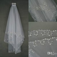 beads and accessories - In Stock Wedding Veils Bridal Veil Layer Handmade Beaded Edge Bridal Accessories Veil White and Ivory Color