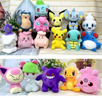Wholesale New Poke Plush Toys Poke Figure Dolls Pocket Monster Plush Toys styles cm Poke Stuffed animals toys Christmas Gifts D724