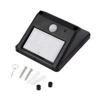 Wholesale Solar Panel LED Flood Security Solar Garden Light PIR Motion Sensor LEDs Path Wall Lamps Outdoor Emergency Waterproof Lamp CDS Night
