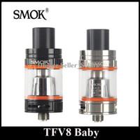 baby tanks tops - Original SMOK TFV8 Baby Tank ml Top Refilling SUb Ohm Atomizer Black SS Color Beast Delrin Tank