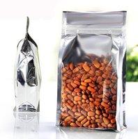 al foods - 100pcs size cm width x22cm high x5cm zip lock AL foil food packing bags one Perspective side