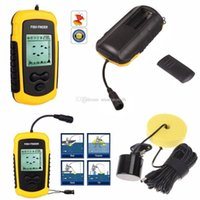 Wholesale 100M LCD Fish Finder Alarm Sonar Depth Sensor Portable Fishfinder Transducer F00362 OST