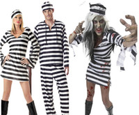 best overalls - WOMENS MENS PRISONER CONVICT COSTUME HALLOWEEN FANCY DRESS STAG PARTY OVERALL JUMPSUIT Halloween party best gift