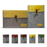 air ends - Colourful High End PU Envelope leather Laptop Case For Computer Macbook Liner Sleeve For Macbook Air Pro retina