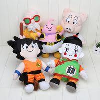 Wholesale 28 cm Japanese Anime Dragon Ball Z Plush Toys Son Goku Majin Buu Master Roshi Chiaotzu Oolong Dolls Stuffed Toys Gift Kids Toys