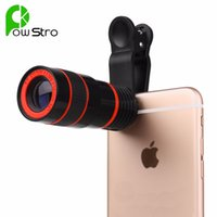 Wholesale 8x Zoom Optical Phone Telescope Portable Mobile Phone Telephoto Camera Lens and Clip for iPhone Samsung HTC Huawei XIAOMI Etc