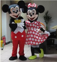 Wholesale quality Mickey Mouse adult mascot costumes Mickey and minnie mascot costume fancy carnival costume two