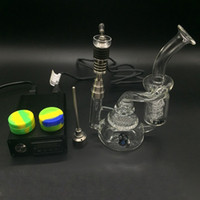 Wholesale Latest E Digital Nail Kit with in upgrade Titanium Quartz Hybrid Nail fit flat mm mm mm coil for glass bongs