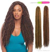 Wholesale Inch X Havana Mambo Twist Strand Crochet Braid Hair Kanekalon Hair Bulks