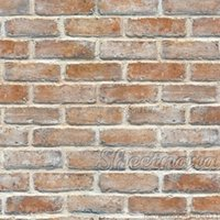 adhesive glue for bricks - Back with Glue Vinyl Self adhesive Brick wall sticker PVC wallpaper roll Kitchen Bathroom Decals Wallpapers Roll Home Decoration
