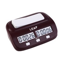 Wholesale LEAP Professional Compact Digital Chess Clock Count Up Down Timer Electronic Board Game Bonus Competition Master Tournament free