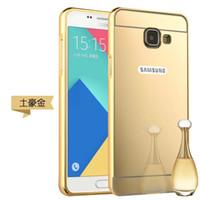 a910 - Deluxe Aluminum Metal Bumper Electroplate Hard Case Mirror For Samsung Galaxy S7 Edge A710 A310 A510 A910 J510 J710 A5 A7 A8 J5 J7 Skin