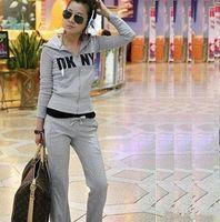 jogging suits - Hot women leisure suit set hooded sweater pants casual dress jogging sportwear