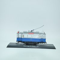 Wholesale THE TOYS TARM ATLAS BLAUWE WAGEN beijnes Static alloy resin the tram model