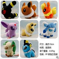 Wholesale Eevee Espeon Jolteon Vaporeon Pocket Monster Styles inch Umbreon Flareon Glaceon Leafeon Plush doll Toys dolls EMS gifts