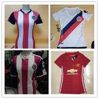 Wholesale DHL Mixed buy Chivas Guadalajara women s soccer jerseys thai quality Chivas women s jerseys home away shirt