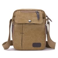 Wholesale The New men s Canvas Shoulder Messenger Bag colors from the Bulk of a Large Discount Factory Outlets Air Transport