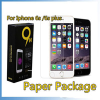Wholesale for Galaxy S7 iphone SE S TOP Tempered Glass Screen Protector for Iphone plus mm D H with Paper Package