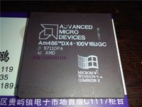 amd microprocessors - AM486DX4 V16BGC AMD Vintage gold PGA microprocessor old cpu processor Electronic Component