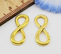 Wholesale Free Ship Gold Plated Infinity Symbol Connectors Charms Finding x8mm