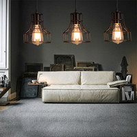 bedroom warehouse - Loft Retro Hanging Lamp Industrial Minimalist Iron Pendant Light Bar Cafe Restaurant Warehouse E27 Lamp Holder Vintage Lights