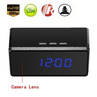 Wholesale HD P Spy Alarm Clock IR Night security Hidden Camera DVR Motion Detection DV Support Audio Recording For Security