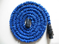 Wholesale Expandable Flexible hose Blue Water Garden Pipe with spray nozzle FT