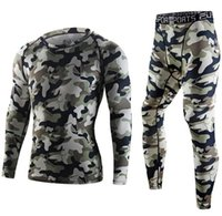 Wholesale Men s tight camouflage sports suit outdoor sports yoga Rinding Running fitness training breathable health comfortable and quick drying