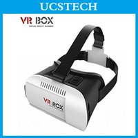 Wholesale 2016 Head Mount Helmet VR BOX Headset Virtual Reality Glasses Rift Google Cardboard D Movie Bluetooth Wireless Mouse Remote Control Gamepad