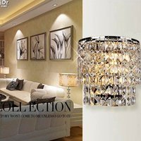 Wholesale Crystal Light Modern simple and stylish bedroom bed living room dining hallway lighting Wall Lamps Rmy