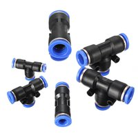 Wholesale 6 Sizes Hot Sale Top Quality Pneumatic Equal Tee Union Connector Fittings T Type F Air Water Hose Tube mm