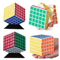 Wholesale New Shengshou x5x5 mm Magic Cube Speed Puzzle Kids Educational Twisty Magico Cubo Snake Stickerless Toys