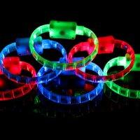 Wholesale LED Bracelet Glo sticks Electronic LED Flashing Bracelet Glow Bracelets LED Wrist Band Christmas Bracelet LED Lighted Toys