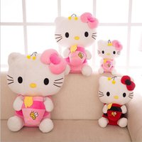 bee holds - 22 quot Hello Kitty Bee Dress Hold Candy Jar Plush Japan Anime Stuffed Kitten Cat Toys Dolls Brand New Red Pink