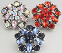 bezel pendant diamond - 20mm Style Noosa Snap Button Alloy diamond Charm Button Bracelets Diy Jewelry Accessories Button For Earrings Rings Bracelets Pendant
