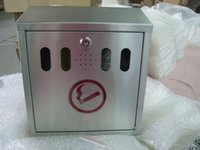 Wholesale Smoke area wall mounted stainless steel ash box with lock free of shipping by e pack
